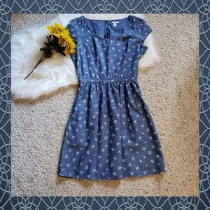 Old Navy Chambray Waist Defined Dress